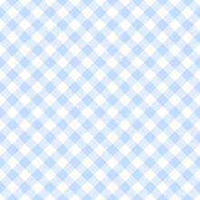 Pastel Blue Vichy Pattern Vector. Spring Summer Textured Seamless Light Gingham Background Graphic For Picnic Blanket, Oilcloth, Napkin, Handkerchief, Other Modern Fashion Fabric Or Paper Print.