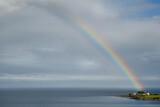 Fototapeta Rainbow - Tęcza nad Chapel Point w Kornwalii, Wielka Brytania