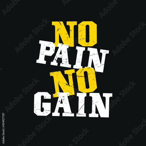 No Pain No Gain Fototapeta