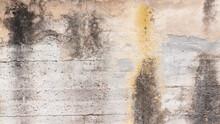 Muro De Hormigón Sucio Y Desgastado