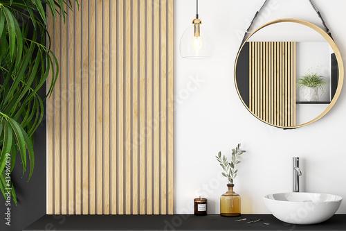 Canvas-taulu Blank Wall, Empty Wall mockup, Minimalist mockup, Bathroom mockup, Empty Wall, W
