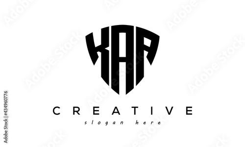 Photo KAA letter creative logo with shield