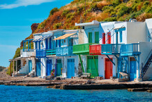 Greek Fishing Village Klima On Milos Island In Greece