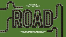 Road Text Effect