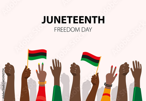 Canvas Print Juneteenth, African-American Independence Day, June 19