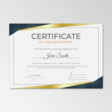 Certificate Of Appreciation Template, Clean Modern Certificate With Simple Vector Design. Certificate Border Template With Luxury And Modern Illustration.