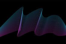 Line Flexible Stripes Futuristic Pattern Background. Line Artwork For Design Flyer, Club Party Invitation, Shop Poster Etc.