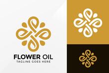 Beauty Flower Oil Logo Design, Brand Identity Logos Vector, Modern Logo, Logo Designs Vector Illustration Template