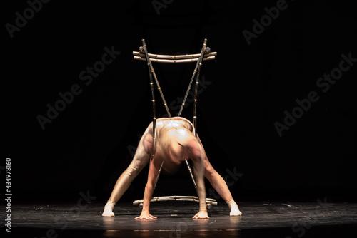 Slika na platnu The abstract movement of the dance
