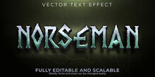 Norseman Text Effect, Editable Vikings And Nordic Text Style