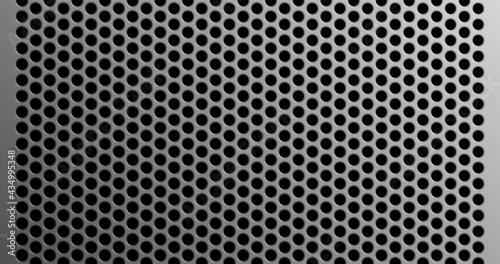 Fototapeta perforated metal grid with circular holes