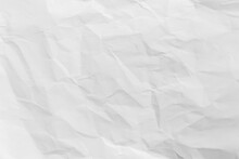 White Crumpled Recycled Paper Texture Background For Design