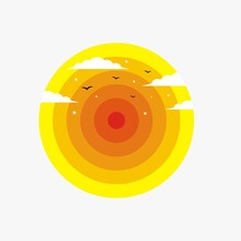 Circle Background Abstract Design Template