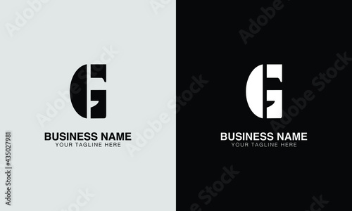 Fotografia G GG initial logo   initial based abstract modern minimal creative logo, vector template image
