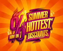 Summer Hottest Discounts Sale Banner Or Poster