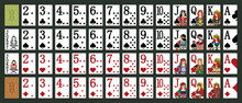 Irland Playing - Poker Set With Isolated Cards - Poker Playing Cards - Miniature Playing Cards For Mobile Applications