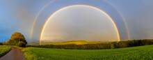 Double Rainbow And Landscape