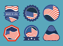 Usa Flag Badges