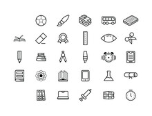 Set Elements Hand Drawn Collection College School Study Sketch Vector Design Style Background Grades Education Student Learning Illustration Icons