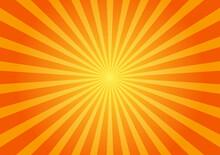 Stock Illustration - Halftone Starlight Background,Abstract Orange Sunlight Background.Sunburst Or Sunshine Gradient Background.Abstract Summer Sunny.
