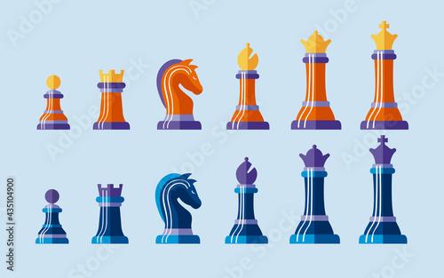 Fototapeta twelve chess pieces
