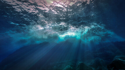 The light of God underwater