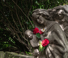 Statue With Flowers