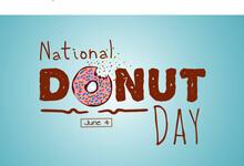 National Donut Day Vector Illustration