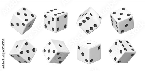 Fotografiet Realistic 3D dice