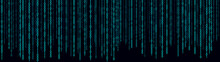 Matrix Style Background. Abstract Futuristic Cyberspace With Binary Code. Falling Numbers. Vector Illustration