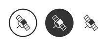 Spacecraft Icon Set. Collection Of High Quality Black Outline Logo For Web Site Design And Mobile Dark Mode Apps. Vector Illustration On A White Background