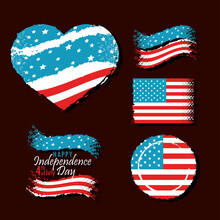 Happy 4th Of July Icons