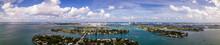 Aerial Photo Miami Beach Bayfront Scene