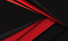 Abstract Red Triangle Arrow Speed Direction On Dark Grey Design Modern Futuristic Creative Background Vector Illustration.