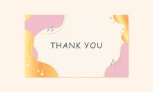 Thank You Card Template Illustration Vector Background