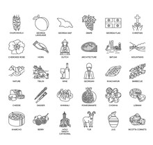 Georgia Symbol , Thin Line And Pixel Perfect Icons