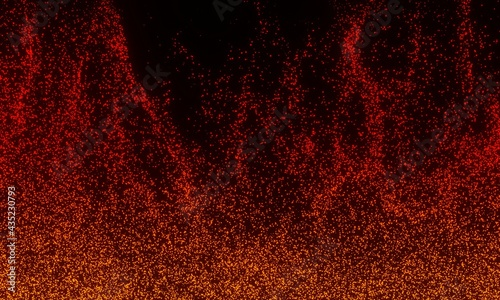 Canvas-taulu background sparks of a bonfire, Beautiful abstract background on the theme of fi