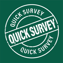 Quick Survey Vector Stamp Isolated On Green Background