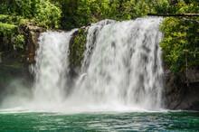 Klong Chao Waterfall On Koh Kood Island Trat Thailand.Koh Kood, Also Known As Ko Kut, Is An Island In The Gulf Of Thailand