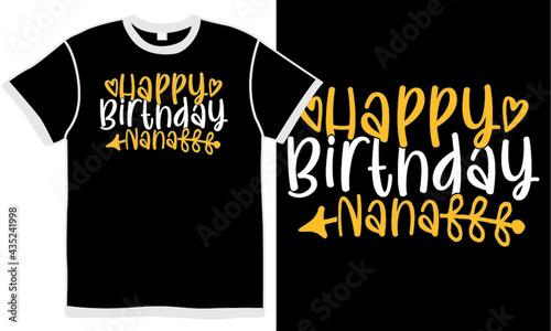 Fotografia, Obraz happy birthday nana, best nana ever, nana gift, nana lover, birthday nana design