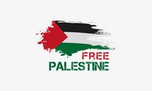 Free Palestine Flag Vector Illustration For Banner, T-shirt, Social Media Post