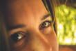 Oczy kobiety z bliska