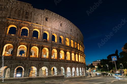 rome coliseum colosseo night Fotobehang