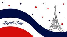 Happy Bastille Day Background Illustration Vector. French National Day Illustration.