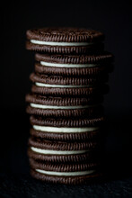 Stack Of Chocolate Sandwich Cookies