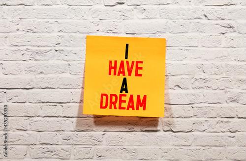 Fotografiet I have a dream word written under torn paper