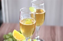 Two Glasses Of White Wine Champagne Party Bar
