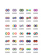 Infinity art color icon vector UI ICON UI