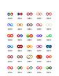 Infinity colorful icon vector UI ICON UI