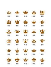 Ellow Stylish Minimalist Crown Champion Vector Icon UI Template AI